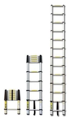 Maybe not an elegant wooden ladder but very handy for people with a loft that they won't be using constantly. It would be very useful for outside maintenance, too. I'm all about multi-taskers! XtremepowerUS Portable 12.5' Aluminum Telescoping Extension Ladder - Collapsible Ladder - Amazon.com