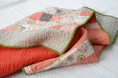 Peachy patchwork --- Really do love the colors (and the back is cute too).