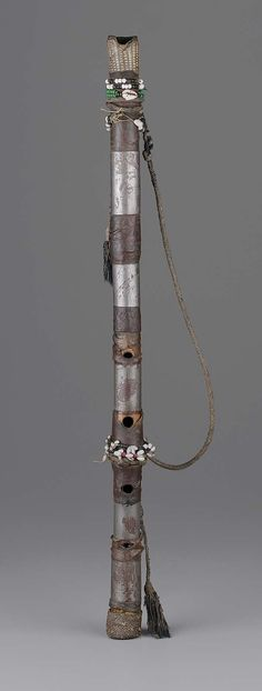 End-blown flute  Unknown people 19th century  Object Place: Probably Sudan