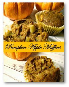 Fall Harvest Pumpkin Apple Muffins #Recipe