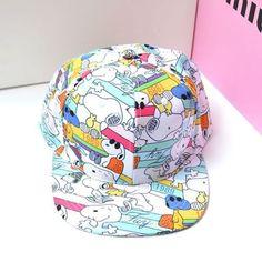 Amazon.com  Snoopy Cartoon Shaped Hip Hop Hats Snapback Flat-bill Baseball  Caps  Sports   Outdoors 719e3a9f195