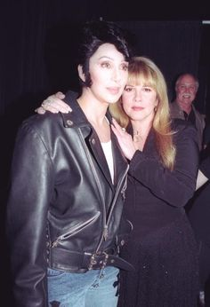 Cher, looking rather manly with ultra feminine Stevie   ☆~♥~♡~♥☆   http://backtothefiveanddime.tumblr.com/post/31236336206/cher-just-tweeted-this-picture-thus-completing-my
