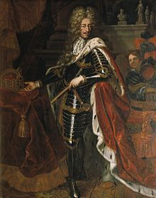 Leopold I (name in full: Leopold Ignaz Joseph Balthasar Felician; Hungarian: I. Lipót; 9 June 1640 – 5 May 1705) was Holy Roman Emperor, King of Hungary and King of Bohemia. A member of the House of Habsburg, he was the second son of Emperor Ferdinand III and his first wife, Maria Anna of Spain. His maternal grandparents were Philip III of Spain and Margaret of Austria. He was also a first cousin of his rival, Louis XIV of France.