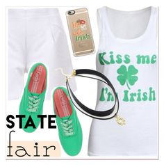 """state fair-kiss me I'm Irish.. :)))"" by paculi ❤ liked on Polyvore featuring Casetify and Keds"