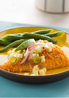 Baked Catfish with Lime-Cucumber Salsa – This recipe is a great way to get fish into your diet. Serve with steamed vegetables.