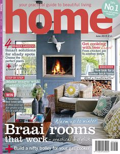 Warm up to winter - practical & stylish braai rooms that work! This issue is beaming with 4 lovely reader gardens and a cosy boma, a great step by step with metallic paint and a breathtaking farmhouse makeover. PLUS we cooked with beer! In stores today - we hope you love it!