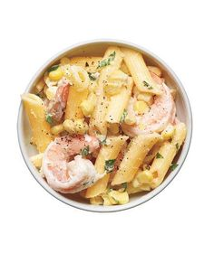 Pasta Salad With Shrimp, Corn, and Tarragon