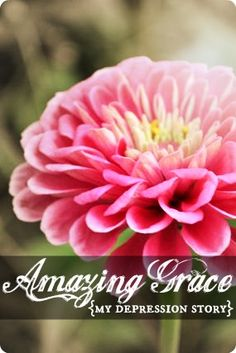 Amazing Grace--One womans incredible story of childhood trauma, depression, self-destruction, and ultimately, redemption.  A must read for anyone struggling with hopelessness and dispair.