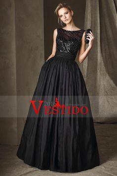 2017 Una línea de vestidos de noche de la cucharada de la blusa moldeada tafetán espalda abierta