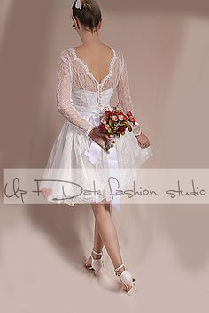 Plus Size wedding party /short / chantilly by UpToDateFashion