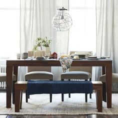 Carroll Farm Dining Table | West Elm- Love this solid wood table! Perfect size and matches our existing chairs