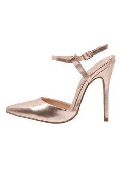 STOMPY - Korolliset sandaalit - rose gold