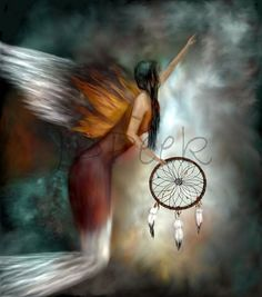 Dream Catcher painting art print 16x20 by JDPeek on Etsy, $44.00