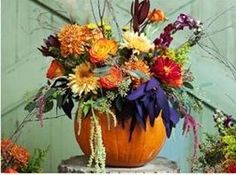 The pumpkin centerpiece will spice up any event!