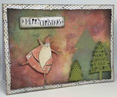 Created with kaszazz products by Julie Storti Merry Christmas, Xmas, Santa, Create, Cards, Painting, Products, Merry Christmas Background, Natal
