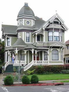 Ideas house colors exterior victorian beautiful for 2019 Architecture Cool, Victorian Architecture, House Architecture Styles, Beautiful Buildings, Beautiful Homes, Victorian Style Homes, Modern Victorian, Victorian Era, Victorian Library