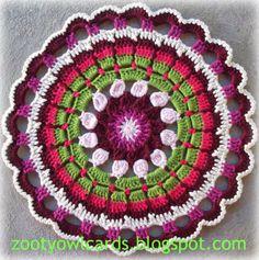 Dahlia Mandala:  Pattern for free!