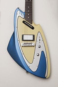Many of you are familiar with John Backlund's fantastic retro-futuristic guitar designs, but very few have ever had the opportunity to own one - until now. Surf Guitar, Guitar Body, Guitar Art, Cool Guitar, Eastwood Guitars, Red Electric Guitar, Music Machine, Retro Futuristic, Fender Guitars
