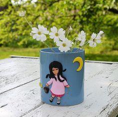 Ceramic mug with polymer clay decor Cute Coffee Mug Cute tea cup Personalised Mugs Own design Personalized coffee cup print Custom cup gift