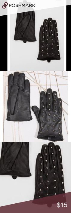 Black Stud Gloves These gloves are FIERCE pair them to any outfit to create a sexy, mod, trendy look! Size is small/medium Urban Outfitters Accessories Gloves & Mittens