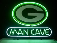 NEW GREEN BAY PACKERS MAN CAVE REAL GLASS NEON LIGHT BEER BAR PUB SIGN