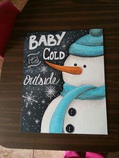 Snowman chalkboard art