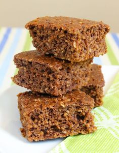 Chocolate Coconut Protein Squares - less than 100 calories each, and no artificial sweeteners!