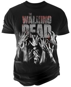 """Bring fright-night style back to life with this cotton T-shirt by Changes that features hands reaching up and """"The Walking Dead"""" printed at front. 