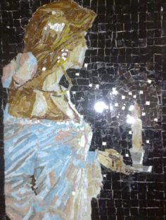 Girl with candle Mosaic