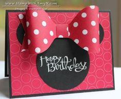 Sassy Salutations Minnie Mouse Birthday card - Stampin' Up! Girl Birthday Cards, Bday Cards, Baby Girl Birthday, Minnie Birthday, Happy Birthday, Disney Birthday Card, Stampin Up Karten, Stampin Up Cards, Disney Cards