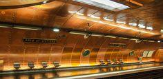 A estação de metrô Arts et Métiers, recriada com base no livro '20 Mil Léguas Submarinas', de Júlio Verne