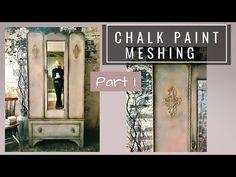 Comment mélanger la peinture à la craie à l'aide de la technique de maillage de couleur (partie 1) - YouTube Chalk Paint Brushes, Using Chalk Paint, Chalk Paint Furniture, Tape Painting, Chalk Painting, Wooster Brush, Furniture Cleaner, Annie Sloan Chalk Paint, Weekend Projects