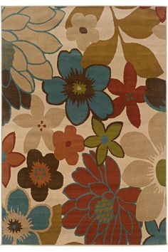 Gabby Area Rug: a soft floral rug that is detailed and durable. #HDCrugs HomeDecorators.com
