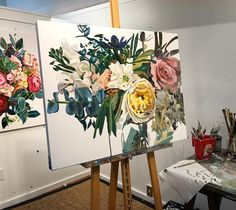 Impasto Flower painting by Kate Mullin Williford. www.katemullinart.com