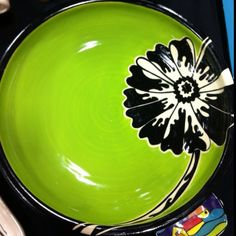 painting ceramic ideas | Creative pottery Painting Ideas / Green Poppy Platter- Grayer Pottery