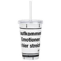 Street sign seen in Berlin printed on modern Tumbler.