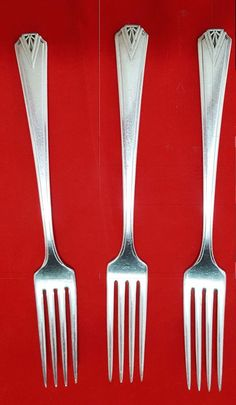 """A.F Towle /& Son Co Greenfield Pattern Dinner Fork 7 3//8/"""" Sterling Silver"""