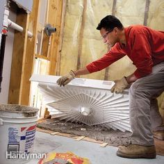 Preformed, one-piece shower bases make installing a new shower much easier. This article explains the process, from ripping out the old shower or tub to how to install the shower pan and the plumbing. Shower Remodel, Bath Remodel, One Piece Shower, Shower Fittings, Shower Faucet, Shower Installation, Bathroom Plumbing, Pex Plumbing, Bathroom Fixtures
