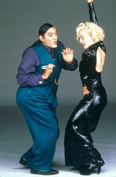 "Madonna with Al Pacino on the  ""Dick Tracy"" set"