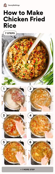 Chicken Fried Rice Recipe Easy, Chicken Recipes, Rice Recipes, Dinner Recipes, Leftover Rice, Healthy Vegetables, Buffalo Chicken, What To Cook, Stir Fry