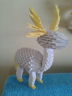 Origami 3d de veado