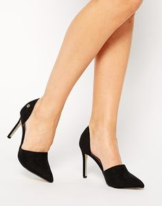 Blink Black Two Part Heeled Shoes