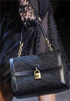 Dolce & Gabbana Fall 2012 detailing.