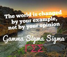 Gamma Sigma Sigma quote
