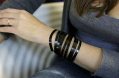 Black Patent Leather  Wrist Wrap by PatkasBerlin on Etsy
