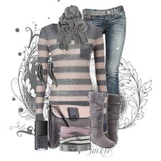"""Wool and Jeans"" by jackie22 on Polyvore"