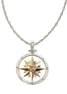 Custom Compass Necklace by The Touch Cute Jewelry, Gold Jewelry, Jewelry Box, Jewelry Accessories, Jewelry Design, Jewlery, Jewelry Necklaces, Jewellery Storage, Compass Necklace