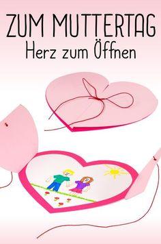 Herzen von Herzen: Bastelt etwas für den Muttertag oder den Vatertag! Zum Beispiel: das Herz zum Öffnen #Bastelanleitung auf #arskreativ #DIY
