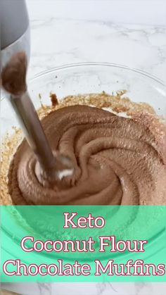 These keto chocolate muffins are made with coconut flour and are rich and moist with a sweet chocolate coconut flavor. #keto #chocolate Muffin Recipes, Keto Recipes, Healthy Recipes, Recipes With White Flour, Chocolate Muffins, Corn Syrup, Coconut Flour, Natural Living, Lunch Ideas