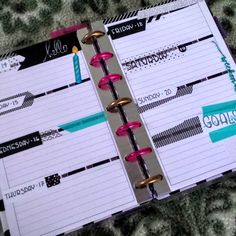 Week of Nov. 14th in my Mini Happy Planner, before the pen.